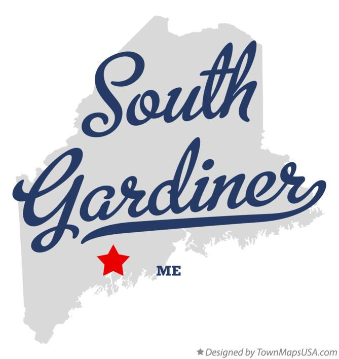 Map of South Gardiner Maine ME