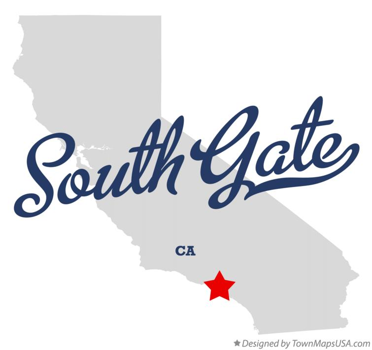 Map Of South Gate Ca California