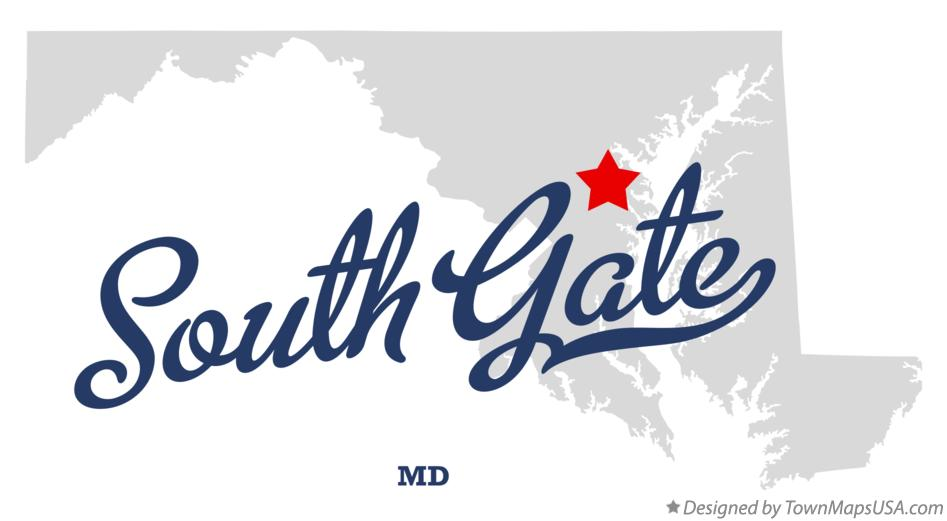 Map of South Gate Maryland MD
