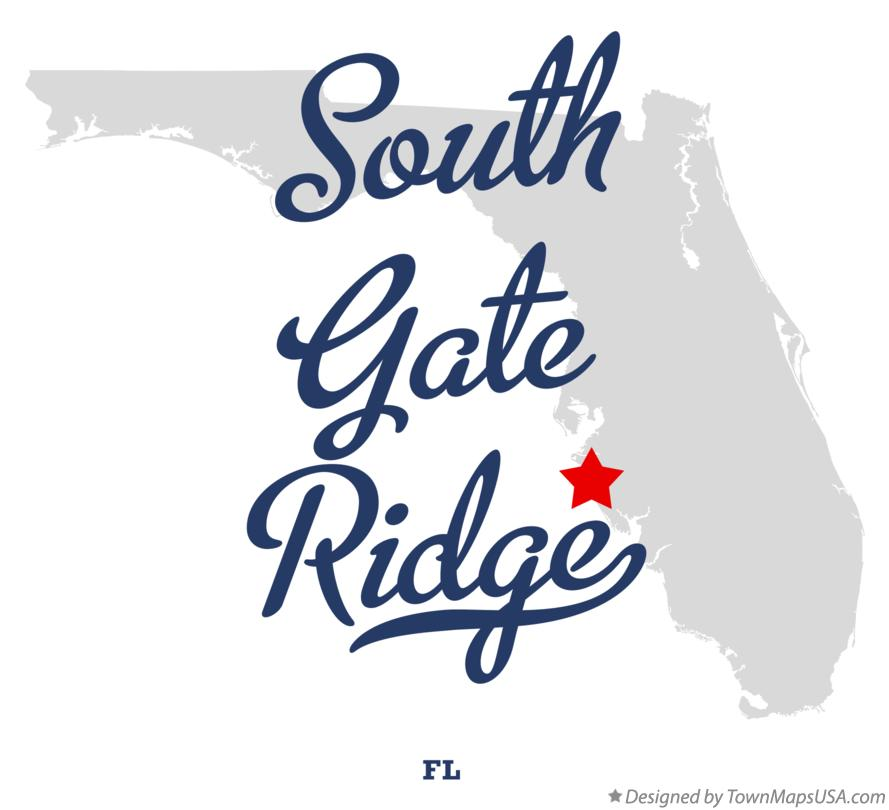 Map of South Gate Ridge Florida FL