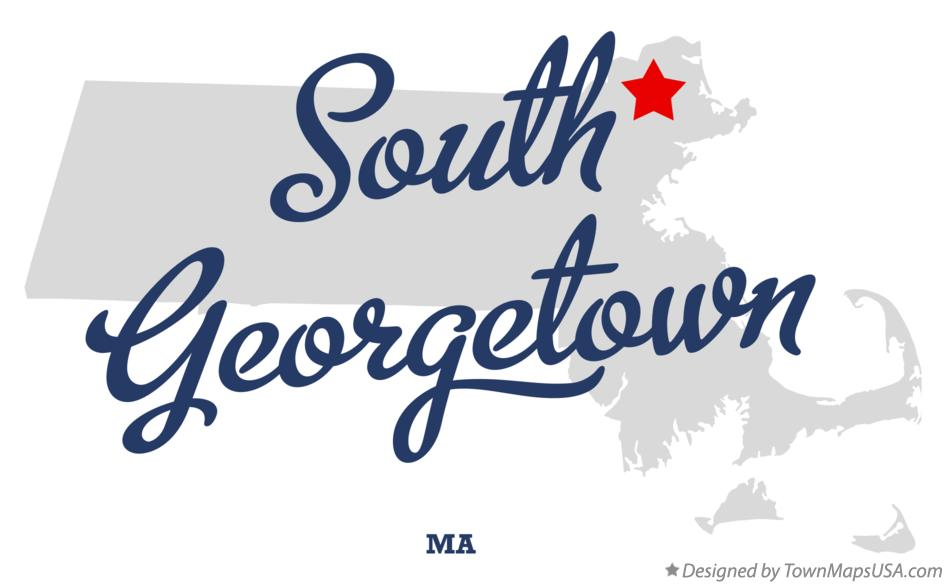 Map of South Georgetown Massachusetts MA
