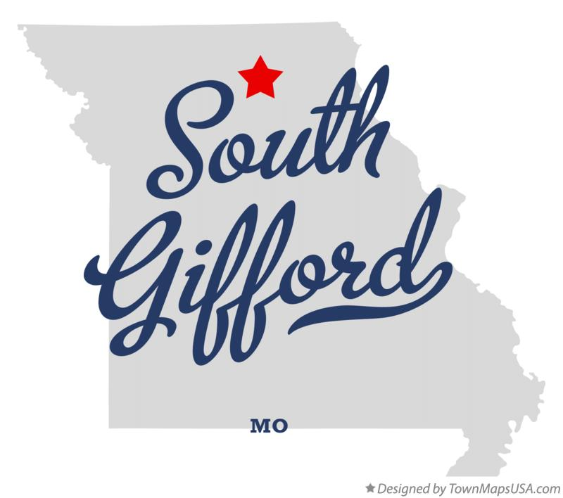 Map of South Gifford Missouri MO