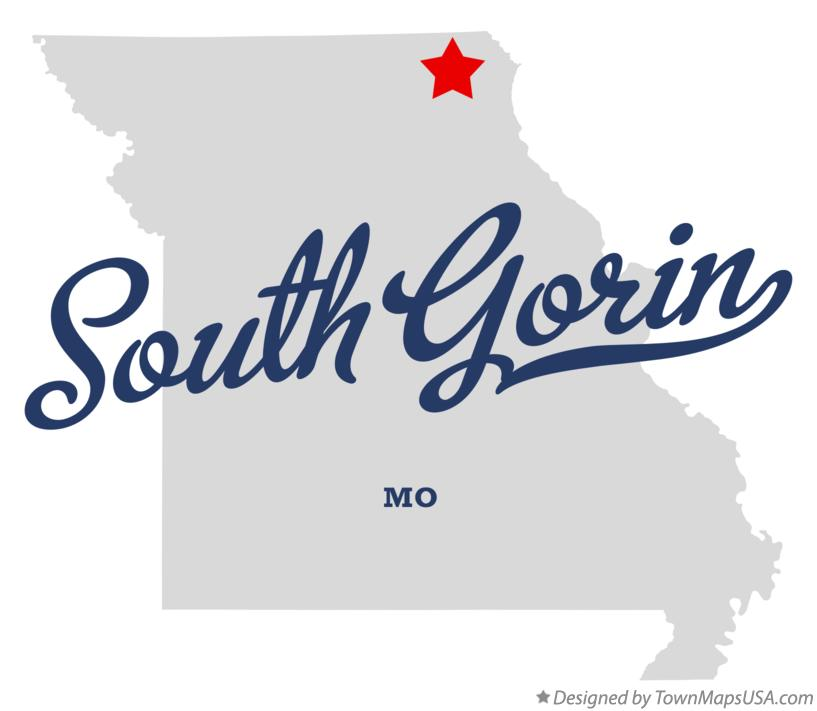 Map of South Gorin Missouri MO