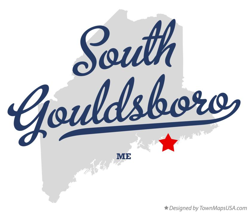 Map of South Gouldsboro Maine ME