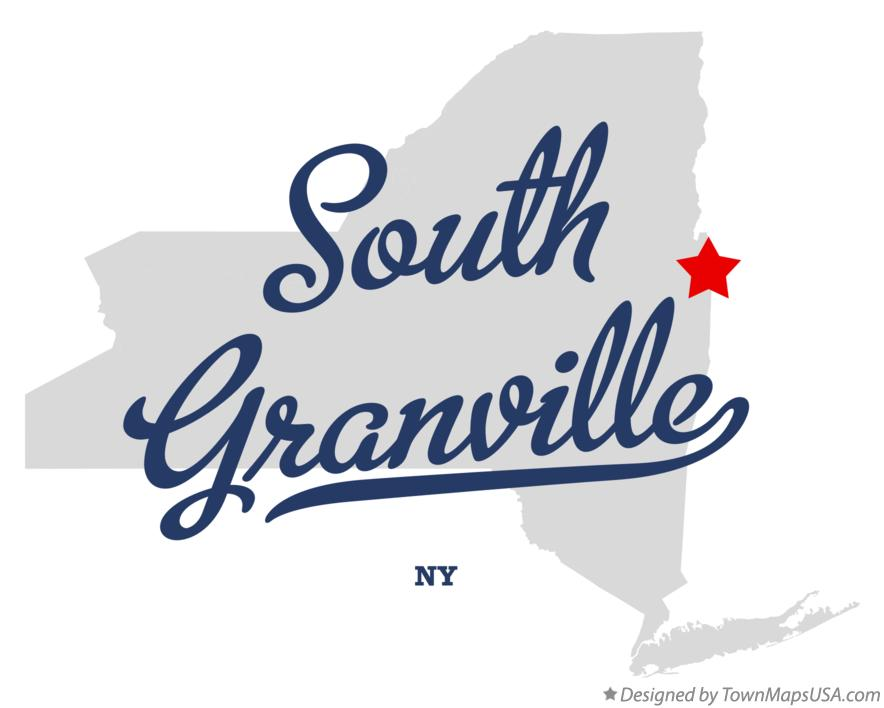 Map of South Granville New York NY