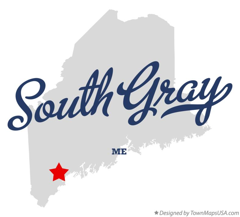 Map of South Gray Maine ME
