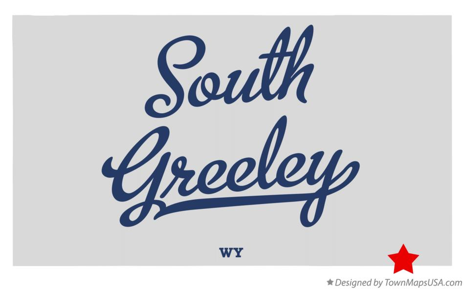 Map of South Greeley Wyoming WY