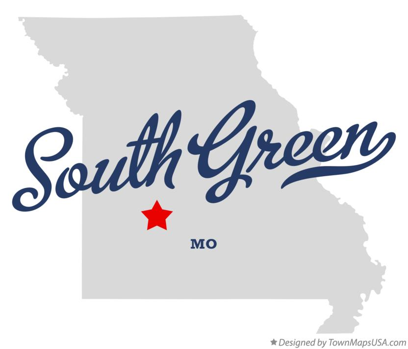 Map of South Green Missouri MO