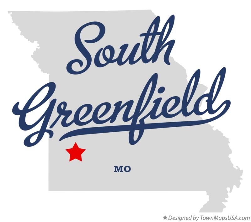 Map of South Greenfield Missouri MO