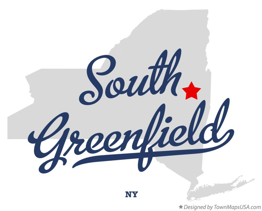Map of South Greenfield New York NY