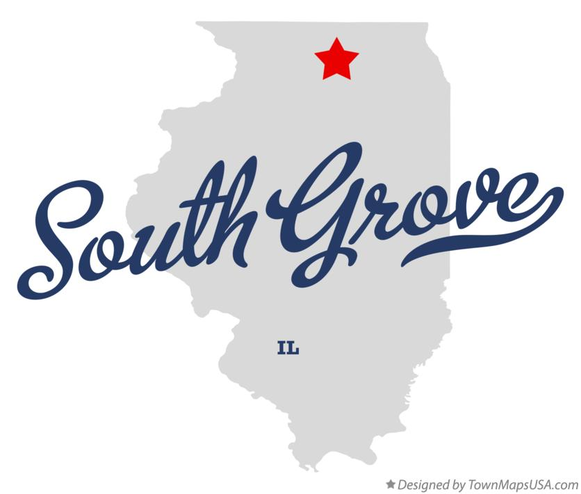 Map of South Grove Illinois IL