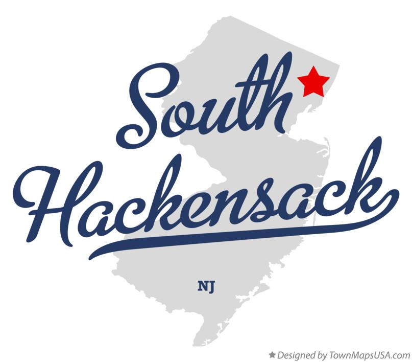 Map of South Hackensack New Jersey NJ
