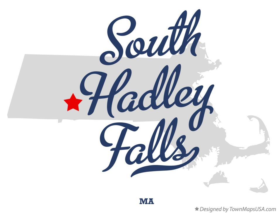 Map of South Hadley Falls Massachusetts MA