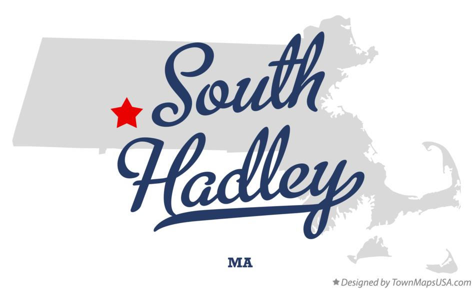 Map of South Hadley Massachusetts MA