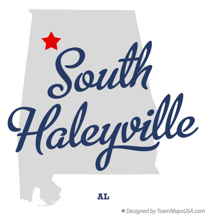 Map of South Haleyville Alabama AL