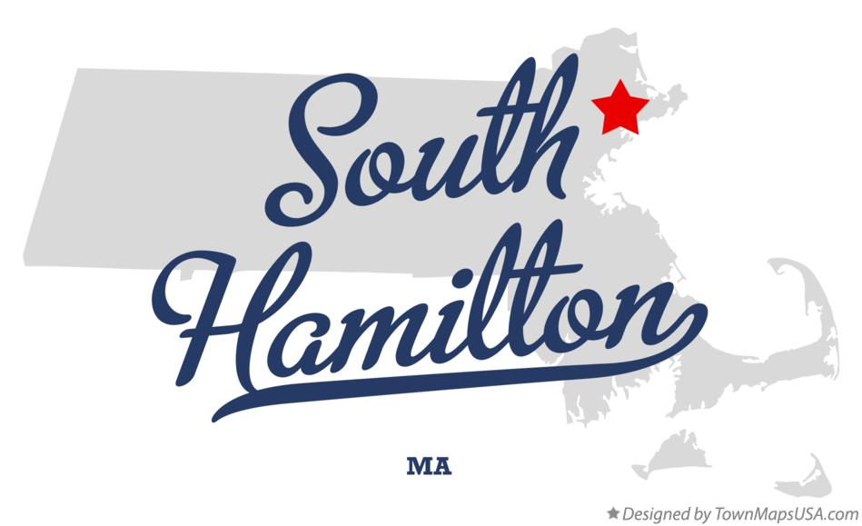 Map of South Hamilton Massachusetts MA