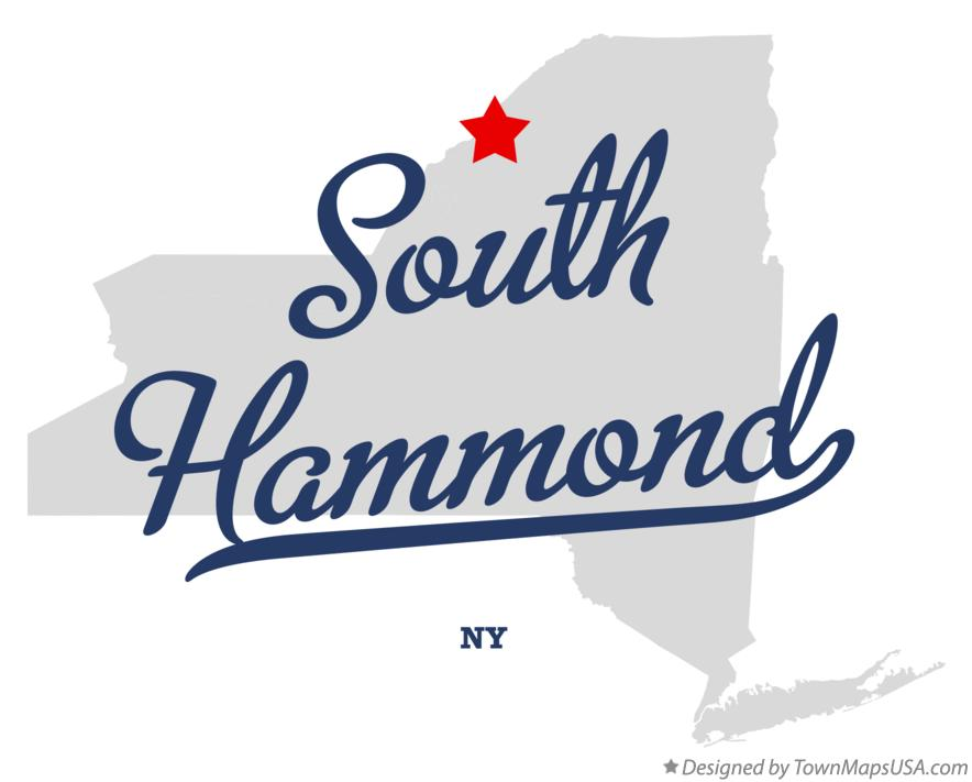 Map of South Hammond New York NY