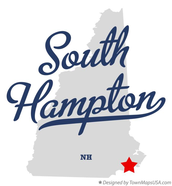 Map of South Hampton New Hampshire NH