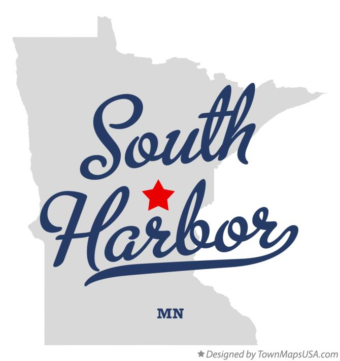 Map of South Harbor Minnesota MN
