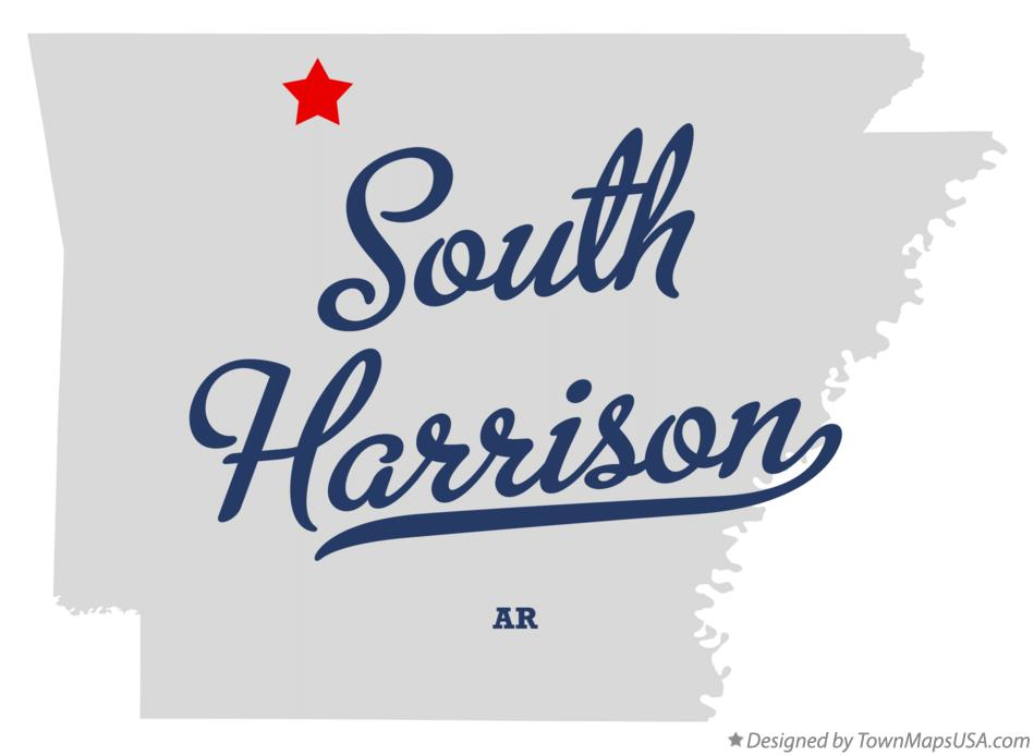 Map of South Harrison Arkansas AR