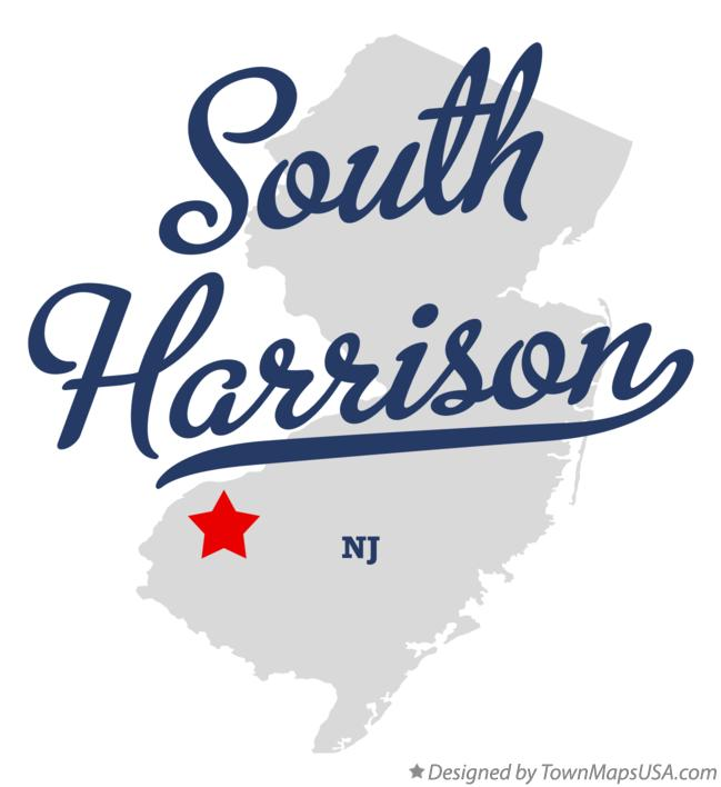 Map of South Harrison New Jersey NJ