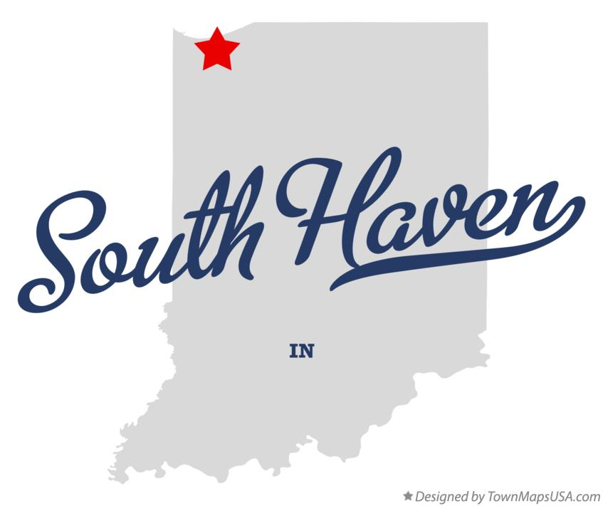 Map of South Haven Indiana IN