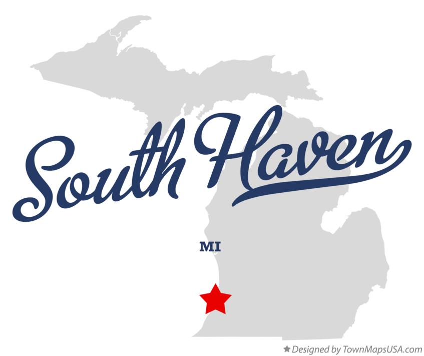 Map of South Haven Michigan MI