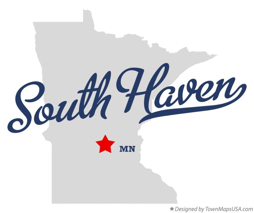 Map of South Haven Minnesota MN