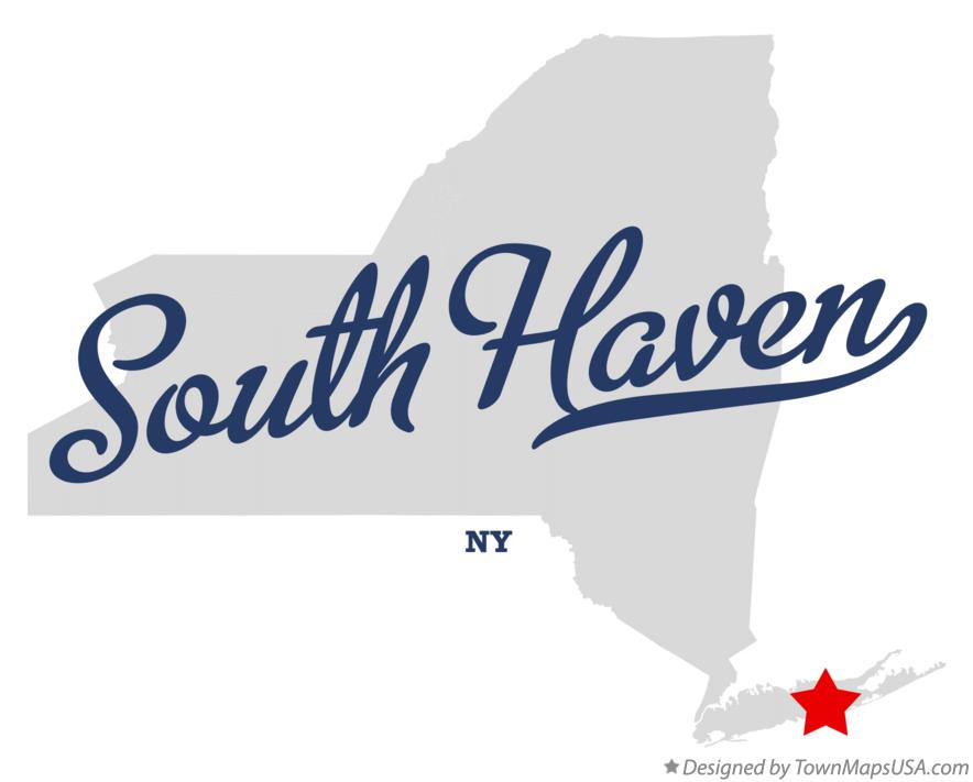 Map of South Haven New York NY