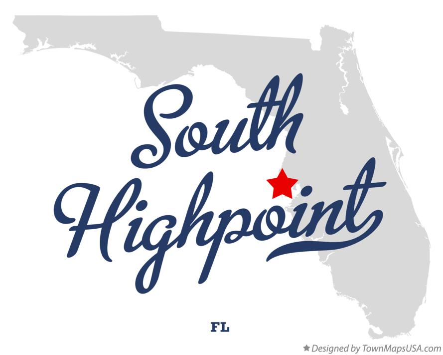 Map of South Highpoint Florida FL