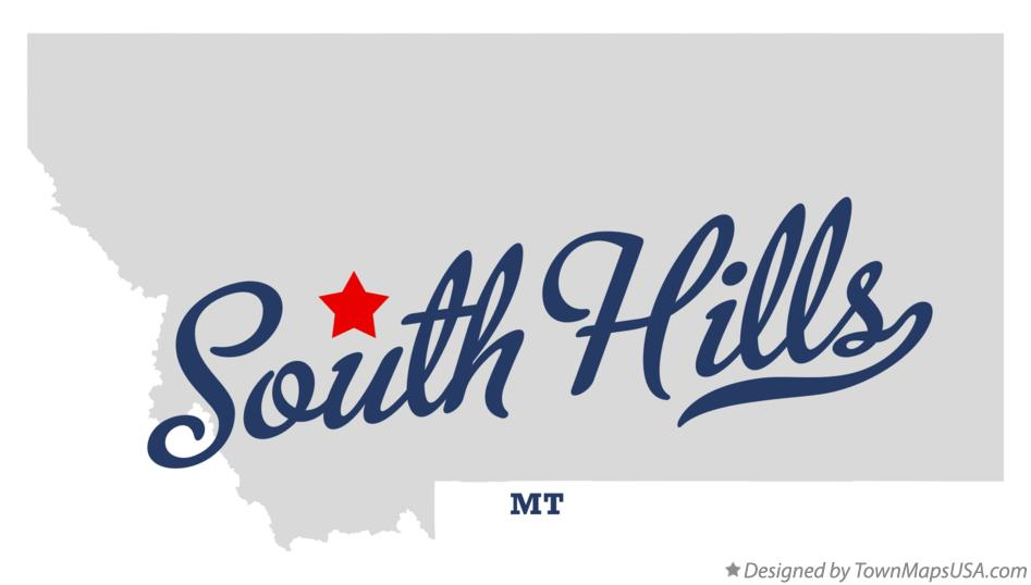 Map of South Hills Montana MT