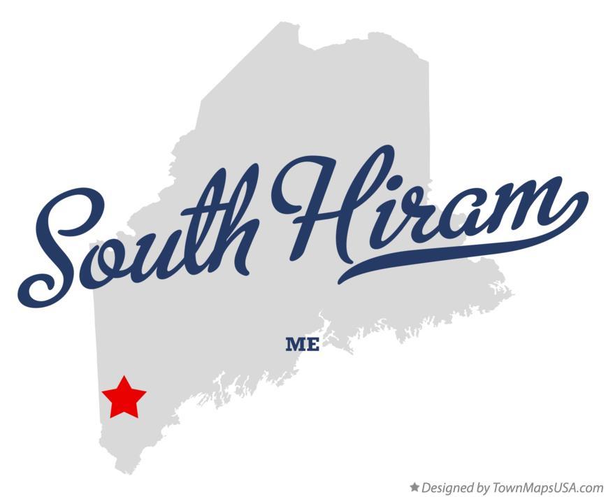 Hiram Maine Map.Map Of South Hiram Me Maine