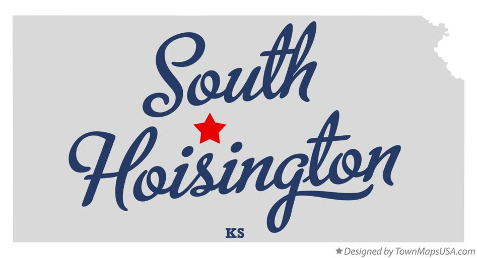 Map of South Hoisington Kansas KS