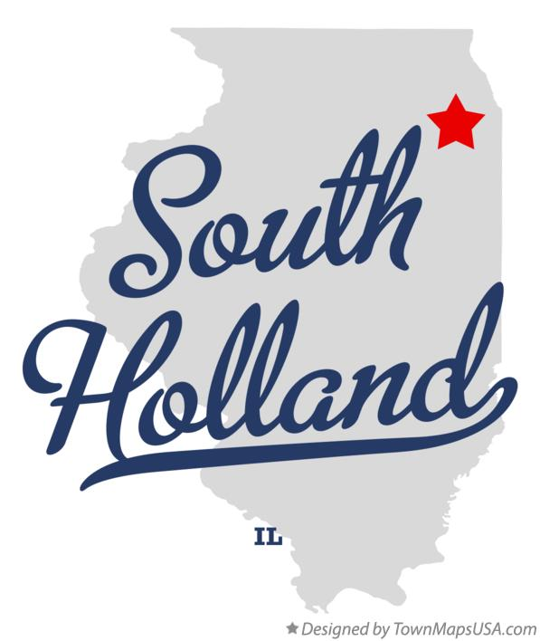 Map of South Holland Illinois IL
