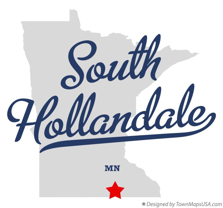 Map of South Hollandale Minnesota MN