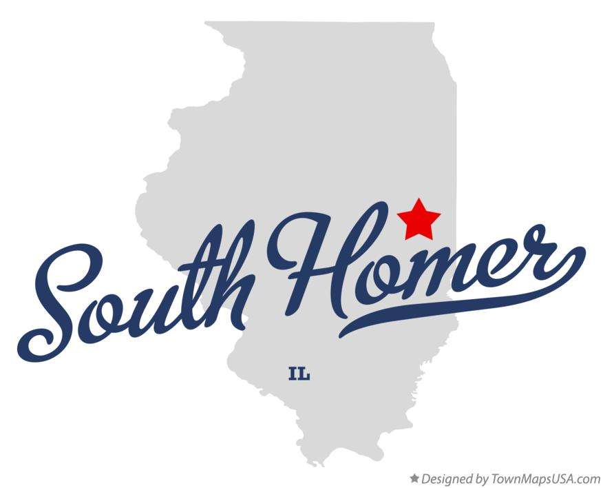 Map of South Homer Illinois IL
