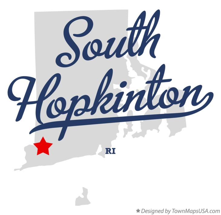 Map of South Hopkinton Rhode Island RI