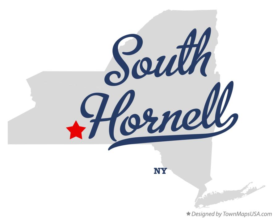Map of South Hornell New York NY