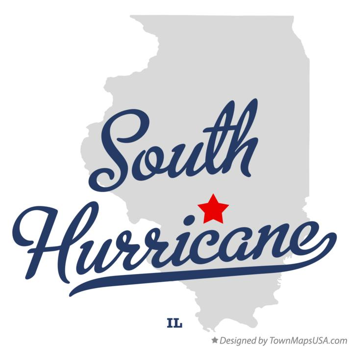 Map of South Hurricane Illinois IL
