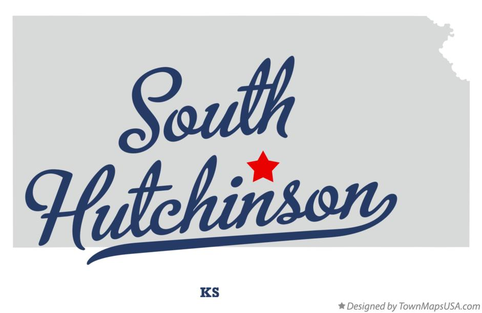 Map of South Hutchinson Kansas KS
