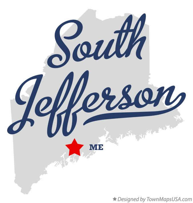 Map of South Jefferson Maine ME