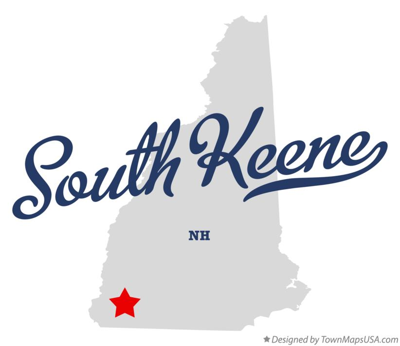 Map of South Keene New Hampshire NH