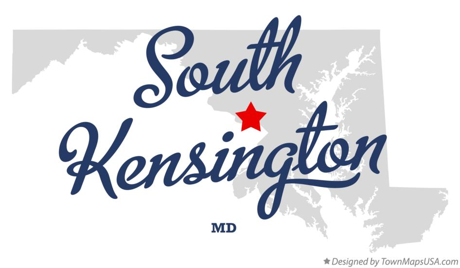 Map of South Kensington Maryland MD