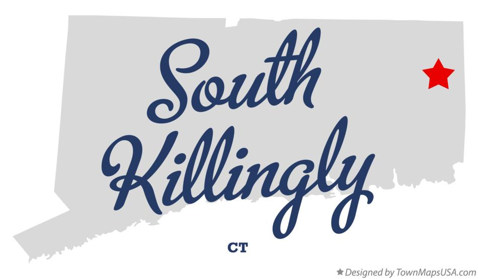 Map of South Killingly Connecticut CT