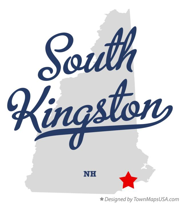 Map of South Kingston New Hampshire NH