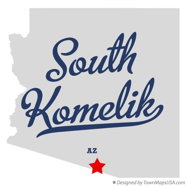 Map of South Komelik Arizona AZ