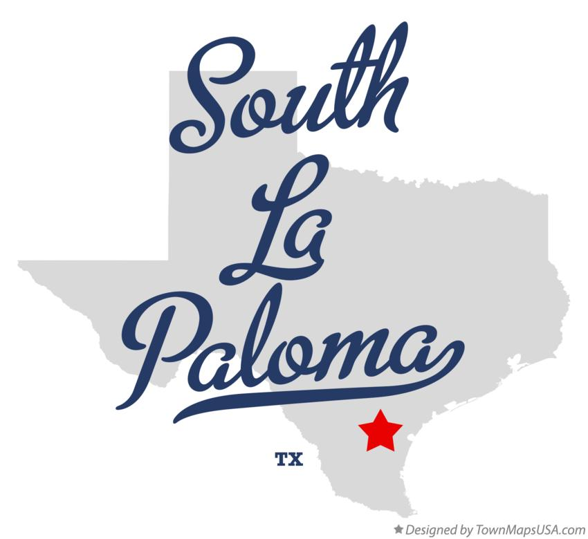 Map of South La Paloma Texas TX