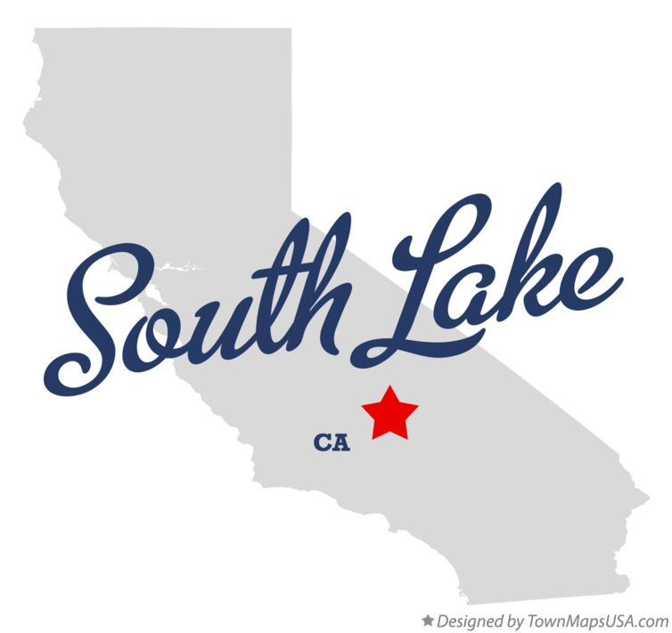Map of South Lake California CA