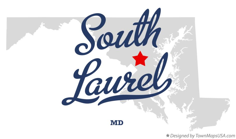 Map of South Laurel Maryland MD