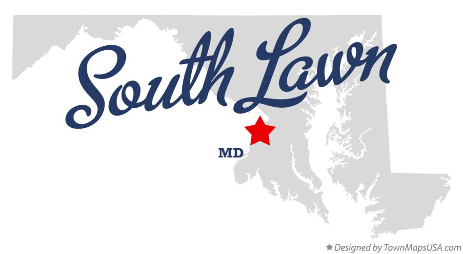 Map of South Lawn Maryland MD